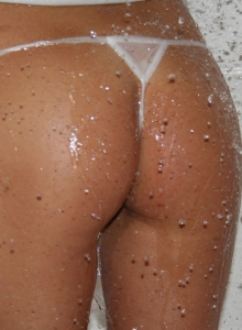 Katie Is In The Shower Showing Off Her Big Tits And Tight Little Pussy - Picture 5